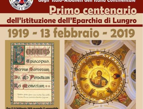 I 100 Anni dell'Eparchia di Lungro, 13 febbraio 1919 – 13 febbraio 2019