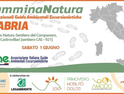 Giornate Nazionali delle Guide Ambientali Escursionistiche 4ª edizione – CamminaNatura 2019 Sabato 1 Giugno 2019