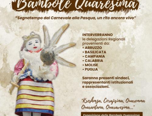 """VI Convegno nazionale """"Bambole Quaresima"""" – San Costantino Albanese (PZ) (Rinviato a data da destinarsi)"""