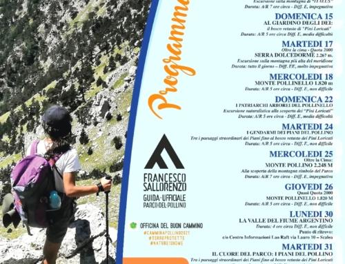 Programma escursioni AGOSTO 2021 #CamminaPollino2021