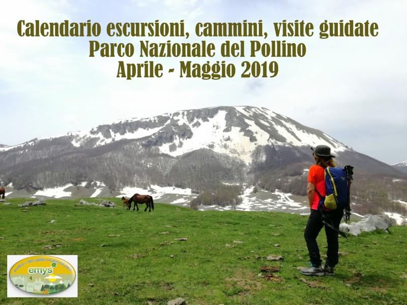 Calendario escursioni, cammini, visite guidate (Aprile – Maggio 2019)